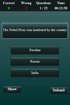 Nobel Prize Quiz screenshot 14
