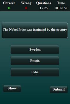 Nobel Prize Quiz screenshot 14