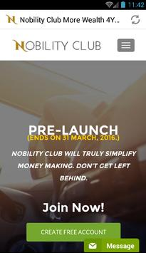 Nobility.Club  Recovery poster