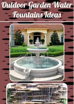 Outdoor Garden Water Fountains Ideas poster