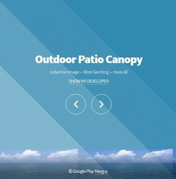 Outdoor Patio Canopy poster