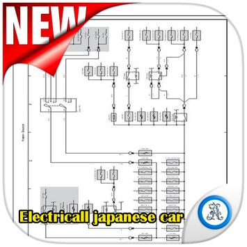 Overall electrical  wiring diagram japanese cars poster