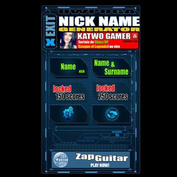 NickName Gen - Free poster