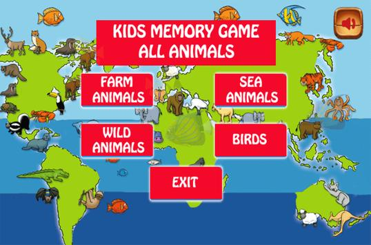 Learning Animals and Memory Games screenshot 1