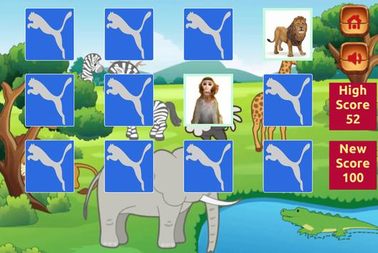 Learning Animals and Memory Games apk screenshot