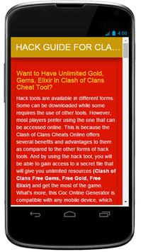 Hack Guide for Clash of Clans poster