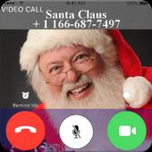 Santa Claus Video Call For Christmas List icon