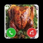Thanksgiving Turkey Fake Call Prank icon