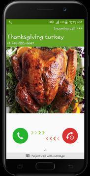 Thanksgiving Turkey Fake Call Prank screenshot 2