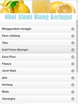 Natural Medicine Sweat Biang apk screenshot