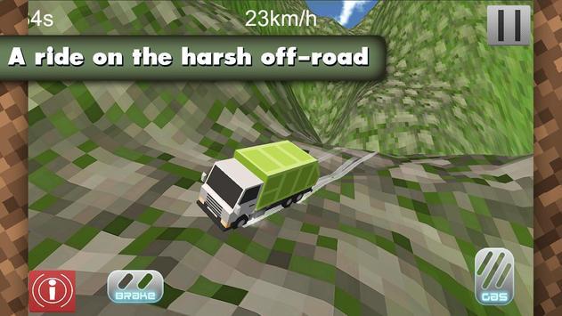 4x4 Offroad Blocky Truck screenshot 1