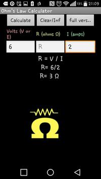 Ohms Law Calculator apk screenshot