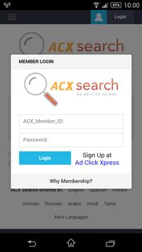 ACX Search poster