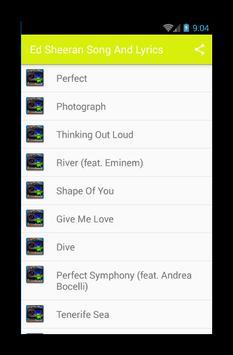 Ed Sheeran Music Player screenshot 1