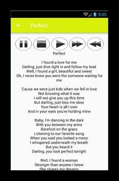 Ed Sheeran Music Player screenshot 2