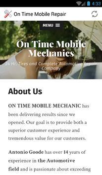 ON TIME MOBILE MECHANIC LLC poster