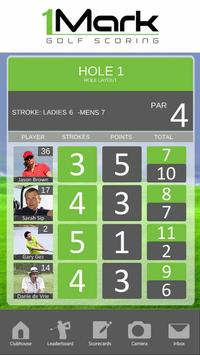 1Mark Golf Scoring apk screenshot