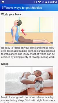Bodybuilding Diet Exercises for men & Women screenshot 3