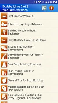Bodybuilding Diet Exercises for men & Women poster
