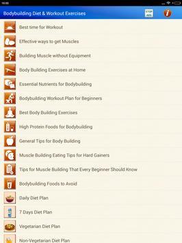 Bodybuilding Diet Exercises for men & Women screenshot 16