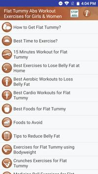 Flat Tummy Abs Workout Exercises for Girls & Women poster