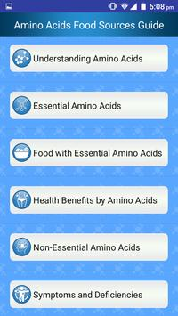 Foods High in Amino Acids & Protein rich Diet help poster