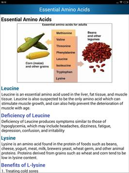 Foods High in Amino Acids & Protein rich Diet help screenshot 17