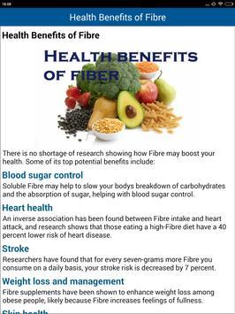 Dietary Fiber Food Sources help heart skin weight apk screenshot