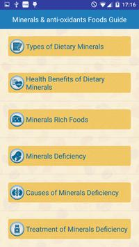Minerals & Antioxidants Foods Diet sources Guide poster
