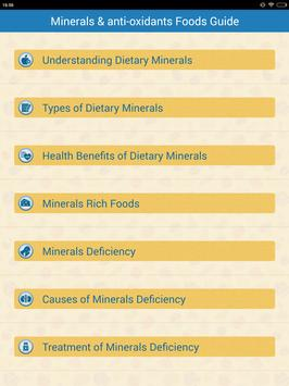 Minerals & Antioxidants Foods Diet sources Guide screenshot 8