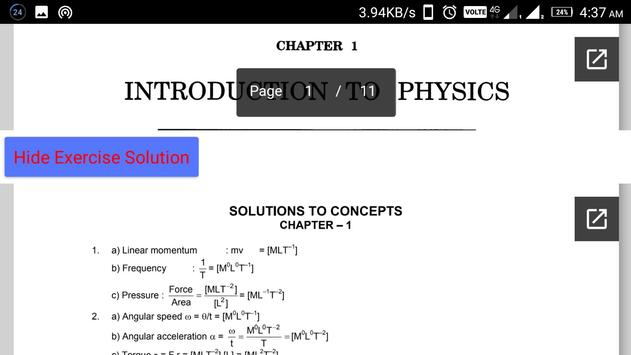 HC Verma Vol.1 - Complete Book With Solution screenshot 4