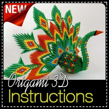 Origami 3D Instructions poster