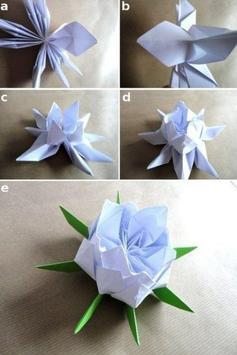 Origami  Paper Flower Tutorial screenshot 2