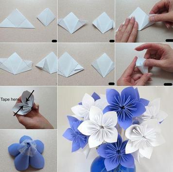 Origami  Paper Flower Tutorial screenshot 3