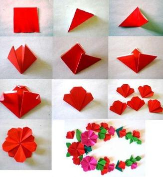 Origami  Paper Flower Tutorial screenshot 4