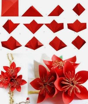 Origami  Paper Flower Tutorial screenshot 5