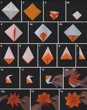 Origami  Paper Flower Tutorial screenshot 6
