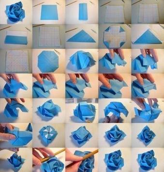 Origami  Paper Flower Tutorial screenshot 7