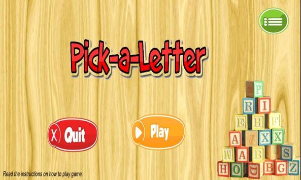 Pick-a-Letter poster