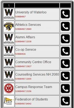 UW PhoneBook screenshot 2