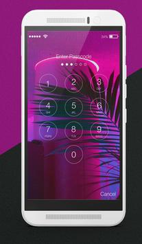 Vaporwave Palm Lock Screen poster