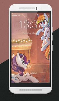 Winter Pony Lock Screen poster