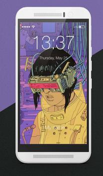 Cyberpunk Wallpapers Hi-Tec Arts Lock Screen poster