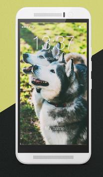 Hasky Dog Furry Puppies Husky Adorable Lock Screen poster