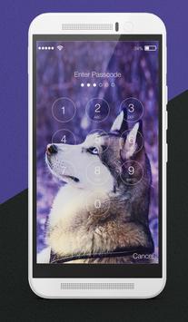 Hasky Dog Furry Puppies Husky Adorable Lock Screen screenshot 1