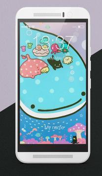 Kawaii Whale Lock Screen poster