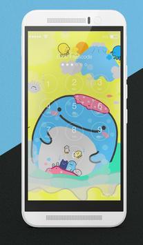 Kawaii Whale Lock Screen apk screenshot
