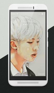 BTS K-Pop Adorable Korean Pop Lock Screen screenshot 1