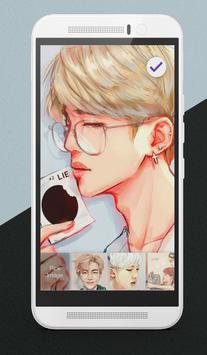 BTS K-Pop Adorable Korean Pop Lock Screen screenshot 2