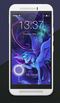 Moon Princess Unicorn My Little Pony Lock Screen poster
